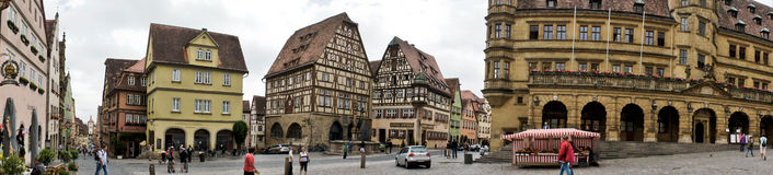 Panorama of Rothenburg Royalty Free Stock Photo