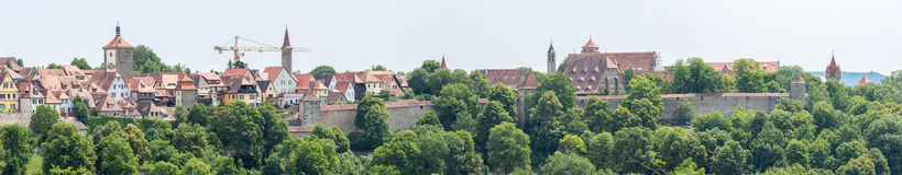 Panorama Rothenburg-ob der Tauber Lizenzfreie Stockfotografie