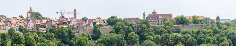 Panorama Rothenburg ob der Tauber Royalty Free Stock Photography