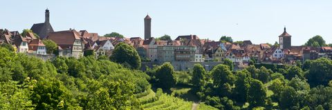Panorama of  Rothenburg ob der Tauber Stock Photography