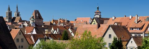 Panorama of Rothenburg ob der Tauber Stock Photo