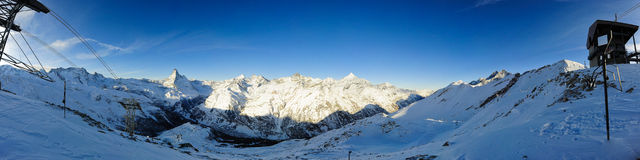 Panorama from Rothorn Royalty Free Stock Photo