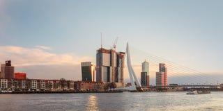 Panorama of the Rotterdam skyline Stock Photo