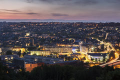 Panorama of Rouen at sunset Stock Photo