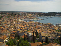Panorama Rovinj Images stock