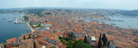 Panorama  of Rovinj old town Royalty Free Stock Photography