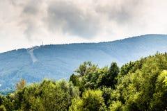 Panorama Rownica av Ustron i Polen royaltyfri foto