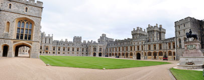 Panorama of Royal Apartments, Windsor castle, UK Stock Photos