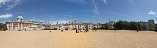 Panorama of the Royal Horse Guards Parade ground Stock Images