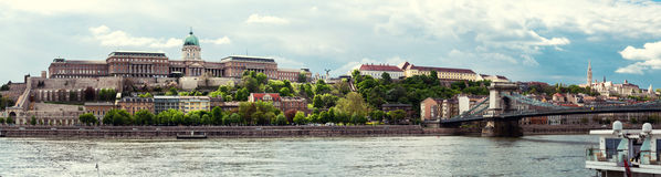 Panorama of Royal Palace (Buda Castle) Stock Images