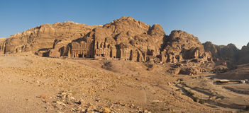 Panorama of the Royal Tombs. Petra, Jordan Royalty Free Stock Photo