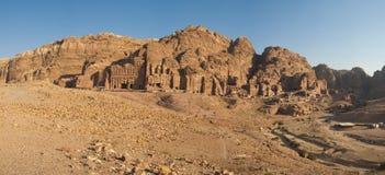 Panorama of the Royal Tombs. Petra, Jordan Royalty Free Stock Photo