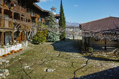 Panorama of Rozhen Monastery Nativity of the Mother of God, Bulgaria Royalty Free Stock Photo