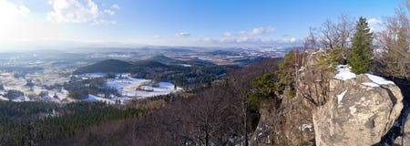 Panorama of Rudawy Janowickie mountains, Poland Stock Photo