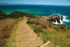 Panorama of Rugged Coastline Byron Bay Royalty Free Stock Image