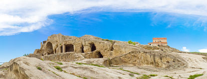 Panorama of ruins Uplistsikhe  in Georgia Stock Photography