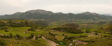 Panorama rural area east Pyrenees France stock photography