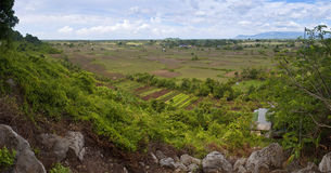 Panorama of rural area Royalty Free Stock Photo