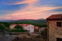 Panorama rural de Gredos na Espanha imagem de stock