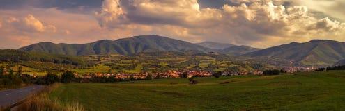 Panorama rural de paysage photos stock