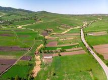 Panorama rural desde arriba Foto de archivo
