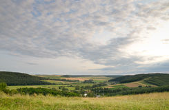 Panorama of rural landscape Royalty Free Stock Photo