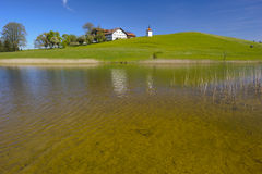 Panorama rural landscape in Bavaria Stock Photography