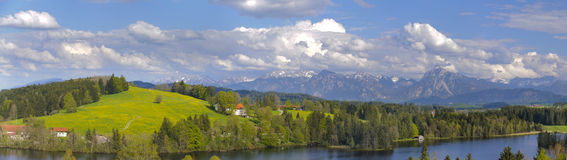 Panorama rural landscape in Bavaria Stock Image