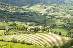 Panorama of rural Umbrian royalty free stock photography