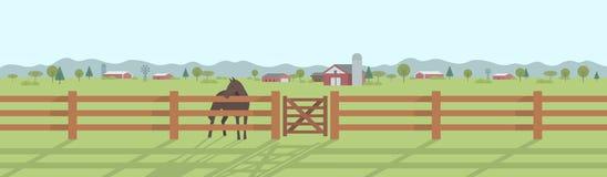 Panorama rurale del paesaggio Fotografia Stock