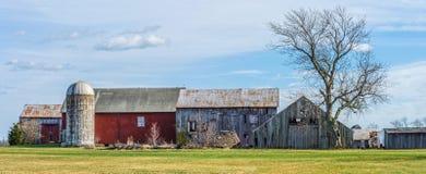 Panorama rurale dell'azienda agricola fotografia stock libera da diritti
