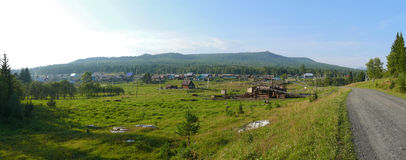 Panorama. Russia, Alanga. Landscape nature. Coniferous forest. T Stock Image