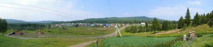 Panorama. Russia, Alanga. Landscape nature. Coniferous forest. T Stock Image
