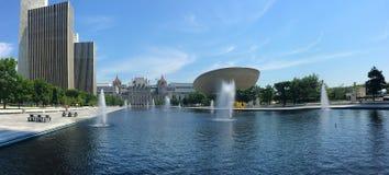 Panorama rzędów stanowych budynki w Albany, Nowy Jork Zdjęcie Royalty Free