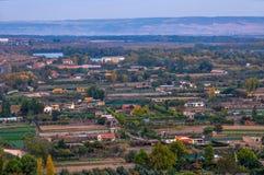 Panorama rzeczny Ebro w Tudela, Navarra, Hiszpania Fotografia Stock
