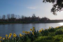 Panorama Rzeczny Thames hampton court pałac w ranku słońcu Fotografia Stock