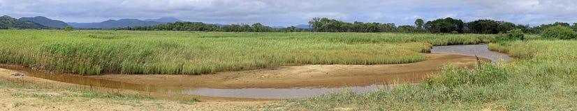 Panorama rzeka Obrazy Royalty Free