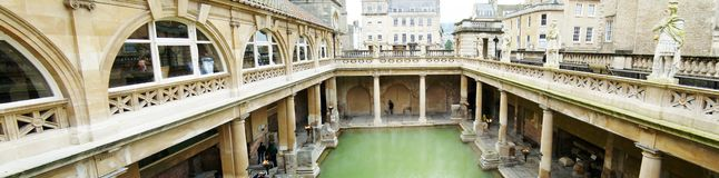 Panorama rzymianina skąpanie, skąpanie obrazy royalty free