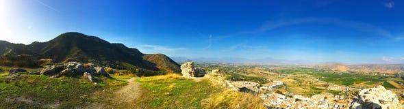 Panorama-südliche Spanien-Landschaft Lizenzfreie Stockfotos