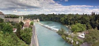 Panorama's van Bern (Zwitserland) Royalty-vrije Stock Fotografie