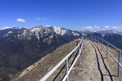 Panorama's van Moro Rock in Sequoia Nationaal Park, Californië royalty-vrije stock fotografie