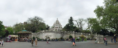A panorama of Sacre Coeru in Paris Royalty Free Stock Image