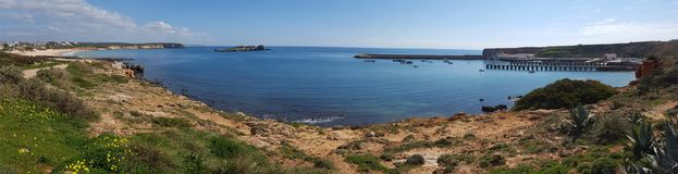 Panorama of sagres port Royalty Free Stock Image