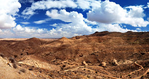 Panorama of Sahara Desert Royalty Free Stock Images