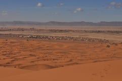 Panorama of Sahara desert Royalty Free Stock Image