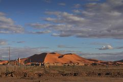 Panorama of Sahara desert Royalty Free Stock Photography