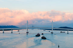 Panorama of Sai Van bridge Stock Photo