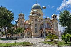 Panorama of Saint Andrew Church, the largest church in Greece, Patras, Peloponnese, Greece Stock Image