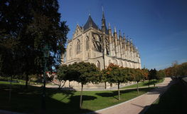 Panorama - The Saint Barbara Church, Kutna Hora, Czech Republic, Europe Royalty Free Stock Photos