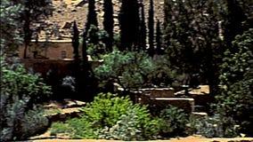 Sinai Saint Catherine Monastery walls. Panorama of Saint Catherine Monastery cloister walls in the Sinai Peninsula, Christian Monastery of Egypt. Archival Mount stock footage
